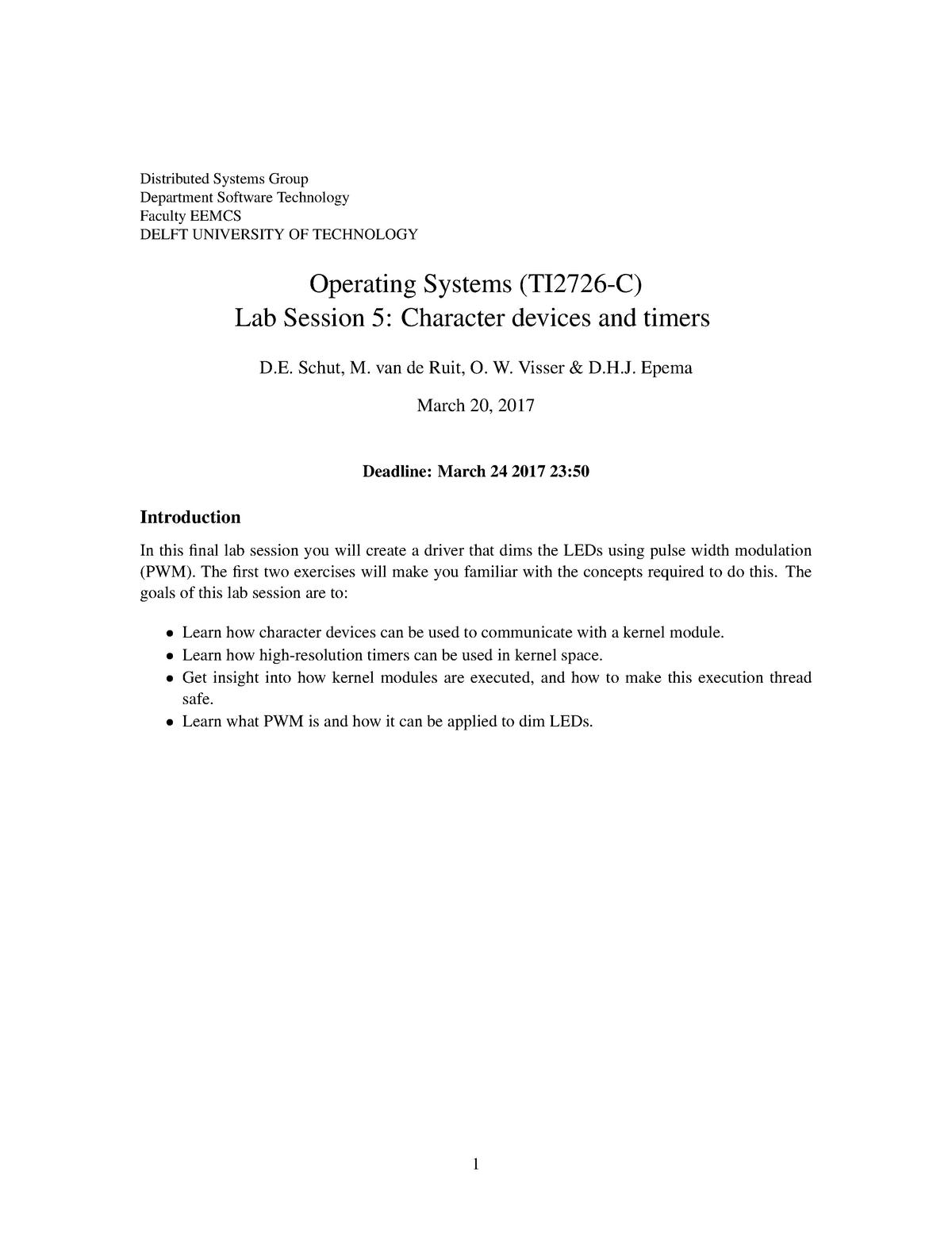 TI2726C-lab-assignment 5 - TI2726-C: Operating Systems - StuDocu