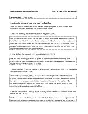 Best Buy Case Questions Bus710 Studocu