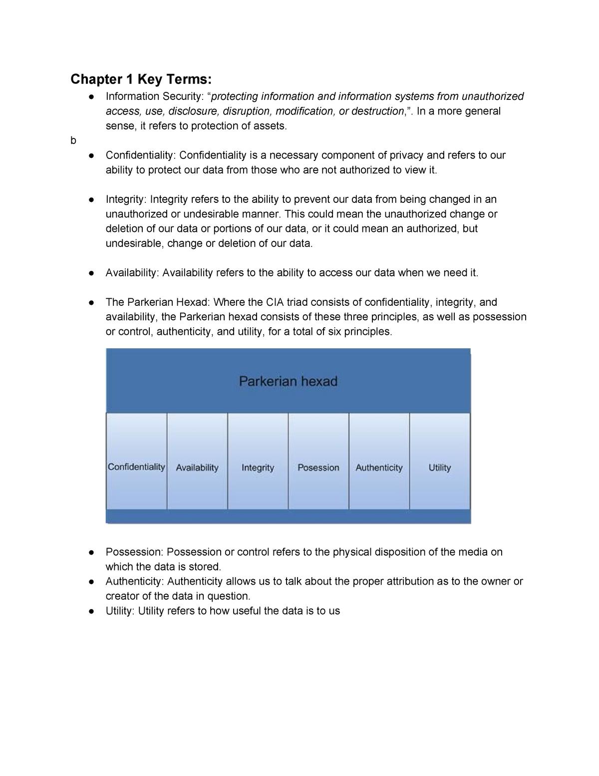 CYSE 101 Midterm 1 Study Guide - StuDocu