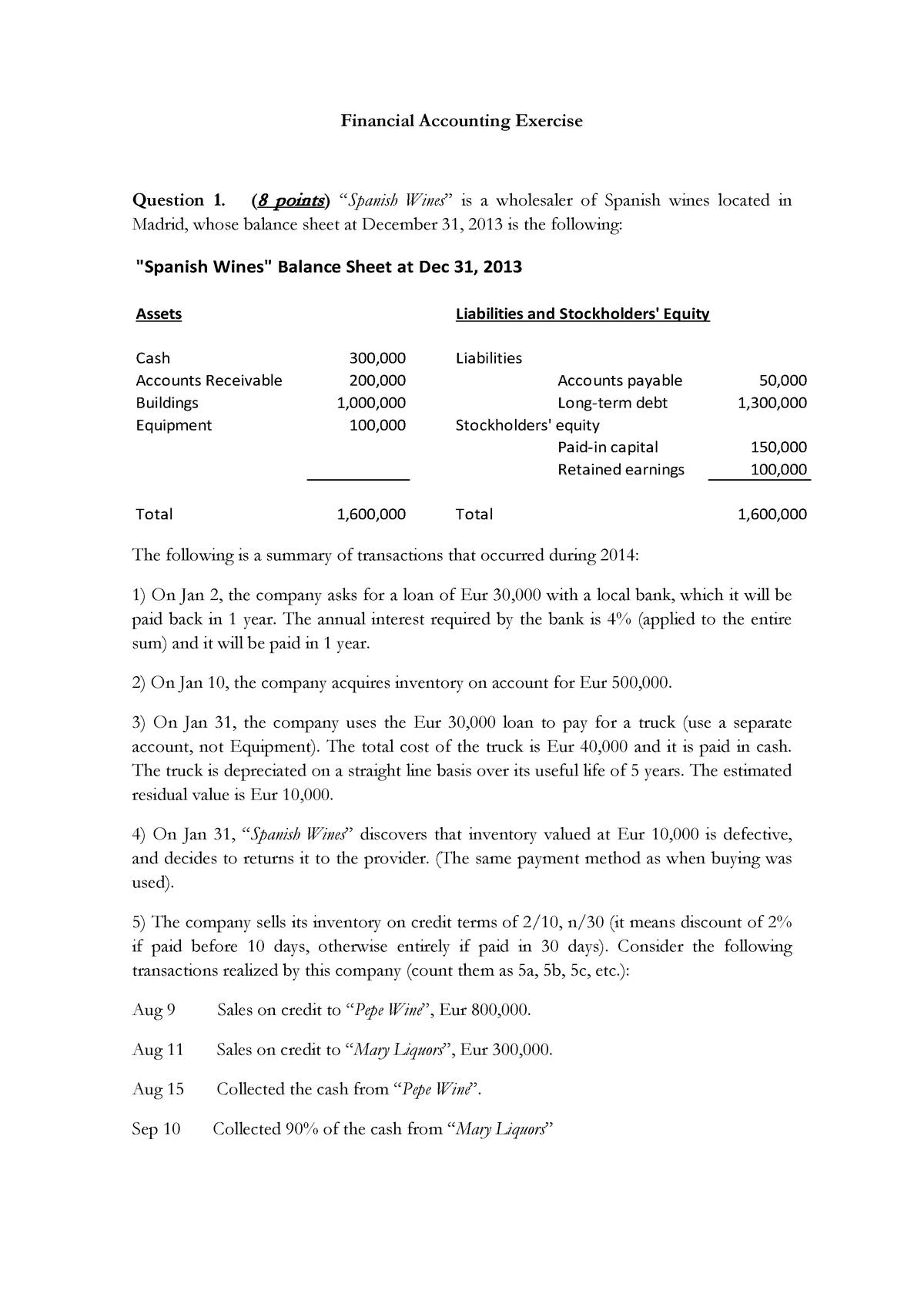 FACC Final Practice Question - Business management - StuDocu