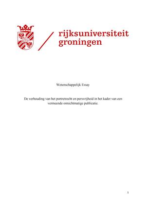 Essay Rgbar40110 Studentenrechtbank Studeersnelnl