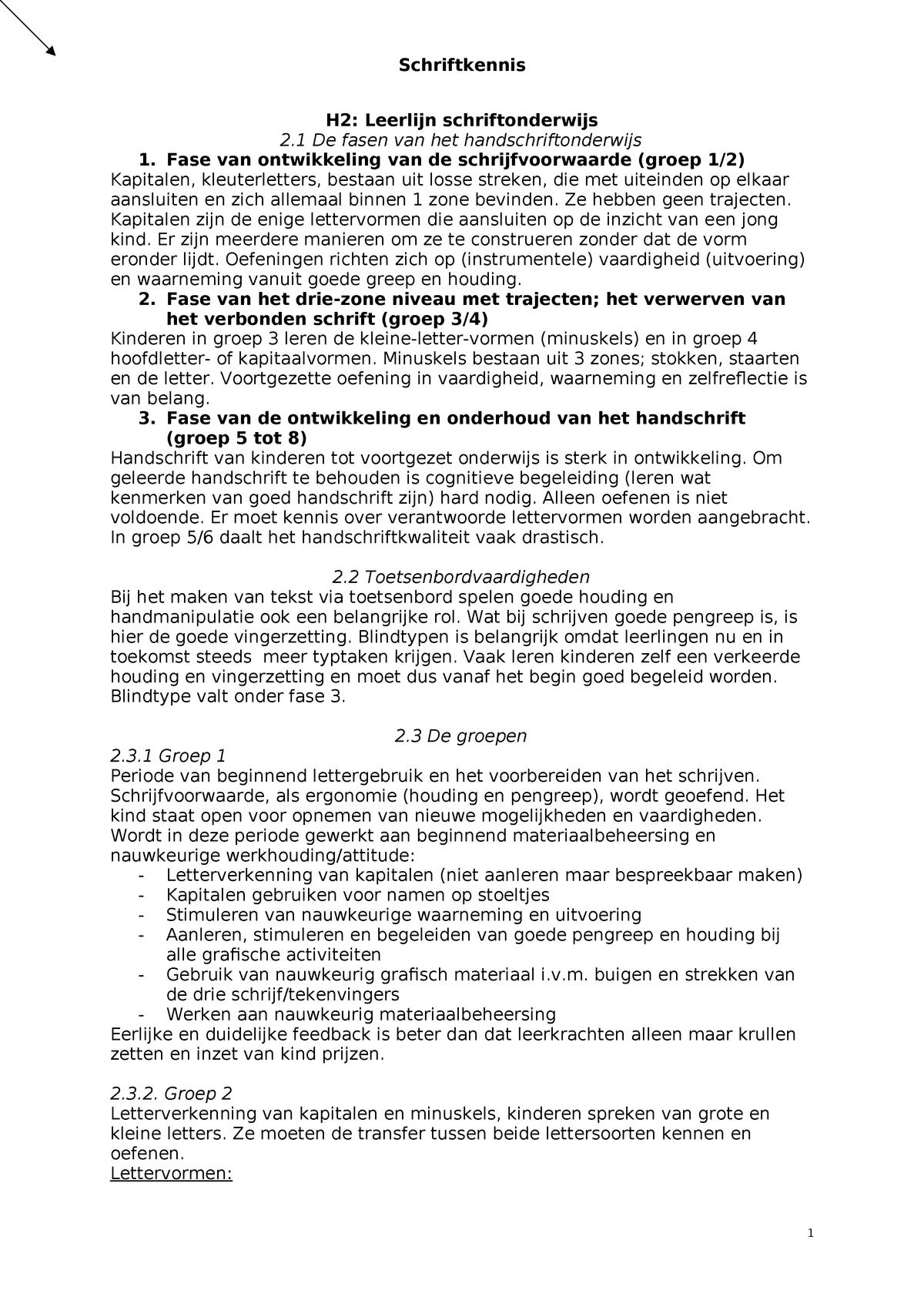 Spiksplinternieuw Schriftkennis H2,3,4,5,7,8.2,9,10,12.2 - - CHE - StudeerSnel FX-29
