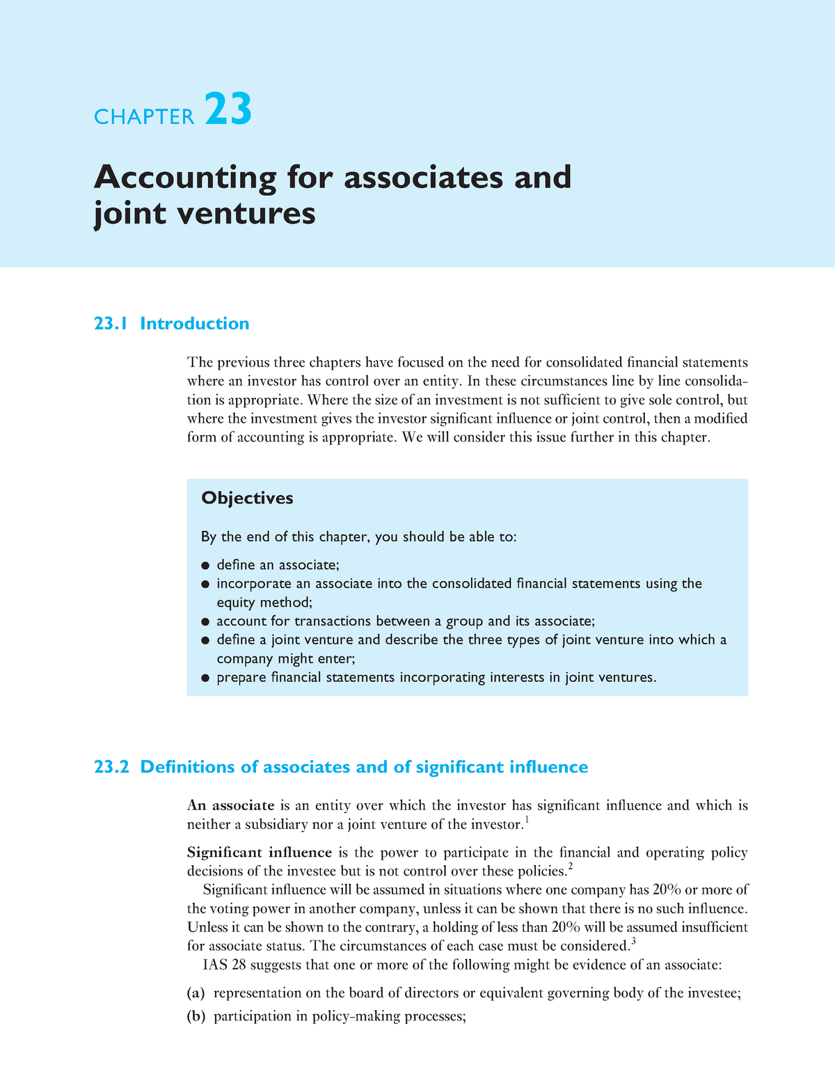 accounting for investments in associates and joint ventures