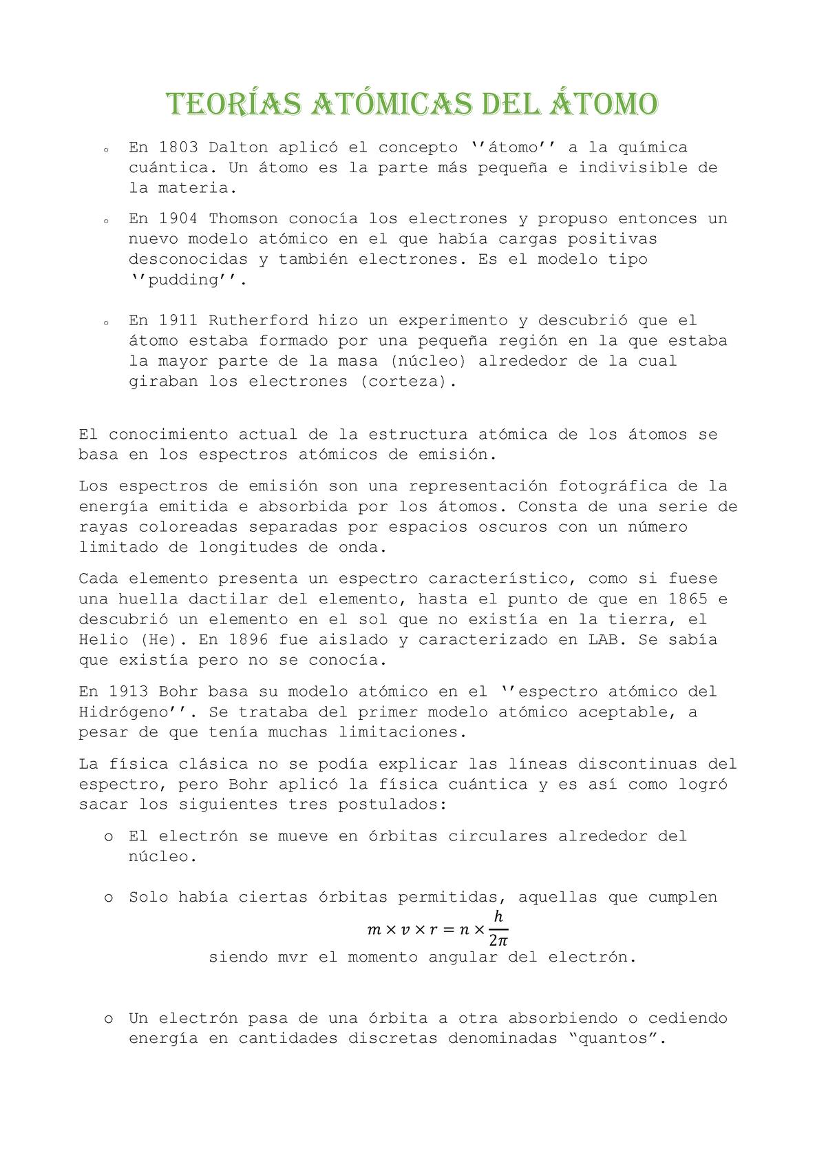 Tema 1 Bases De La Moderna Teoría Del átomo G1011109