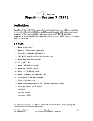 SS7 - notes - MAS355: Comm And Info Systems In Organizations - StuDocu