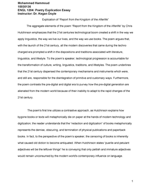 engl  poetry explication essay   engl  reading and writing  engl  poetry explication essay   engl  reading and writing about  genre an introduction to literature   studocu