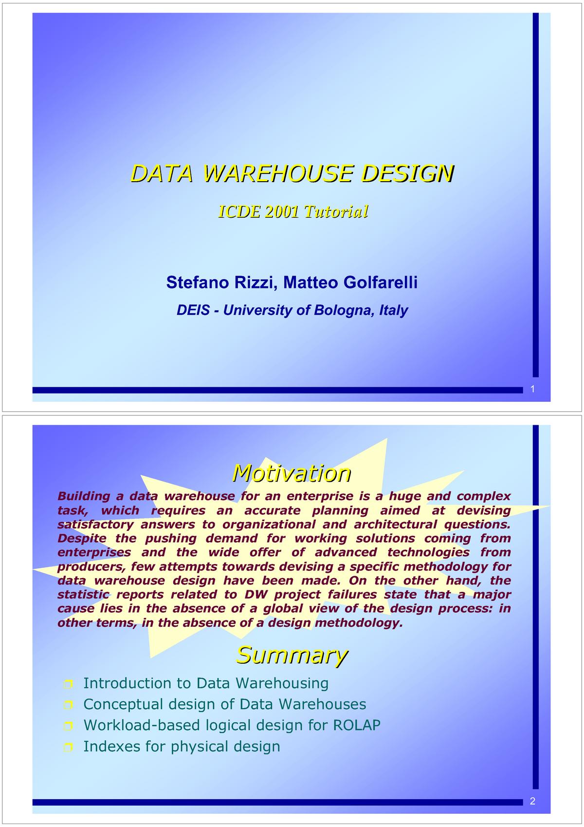 DW Rizzi - Data modelling - 614G01043: Explotación de Almacéns de