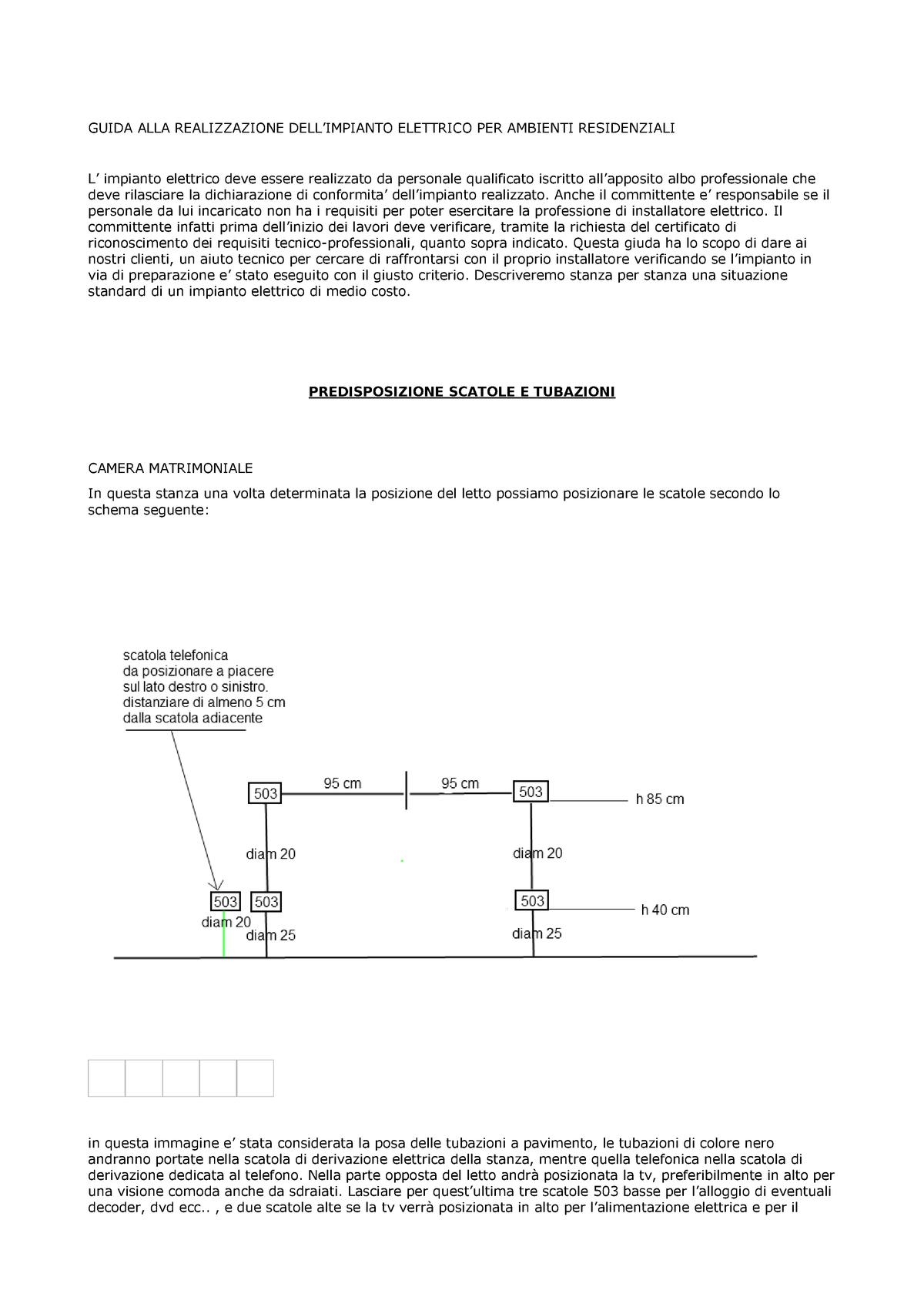 Impianto Elettrico Camera Matrimoniale.Guida Alla Realizzazione Impianto Elettrico 1047587 Economia