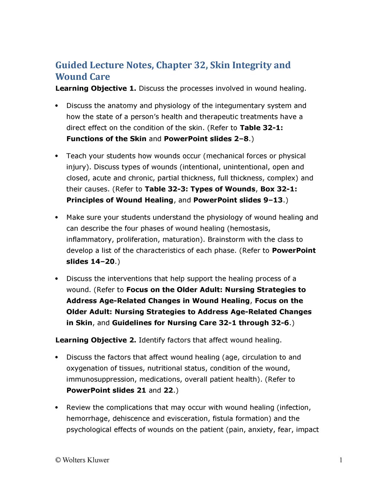 GLN Chapter 32 - key pts ch32 - 780323328524 - StuDocu