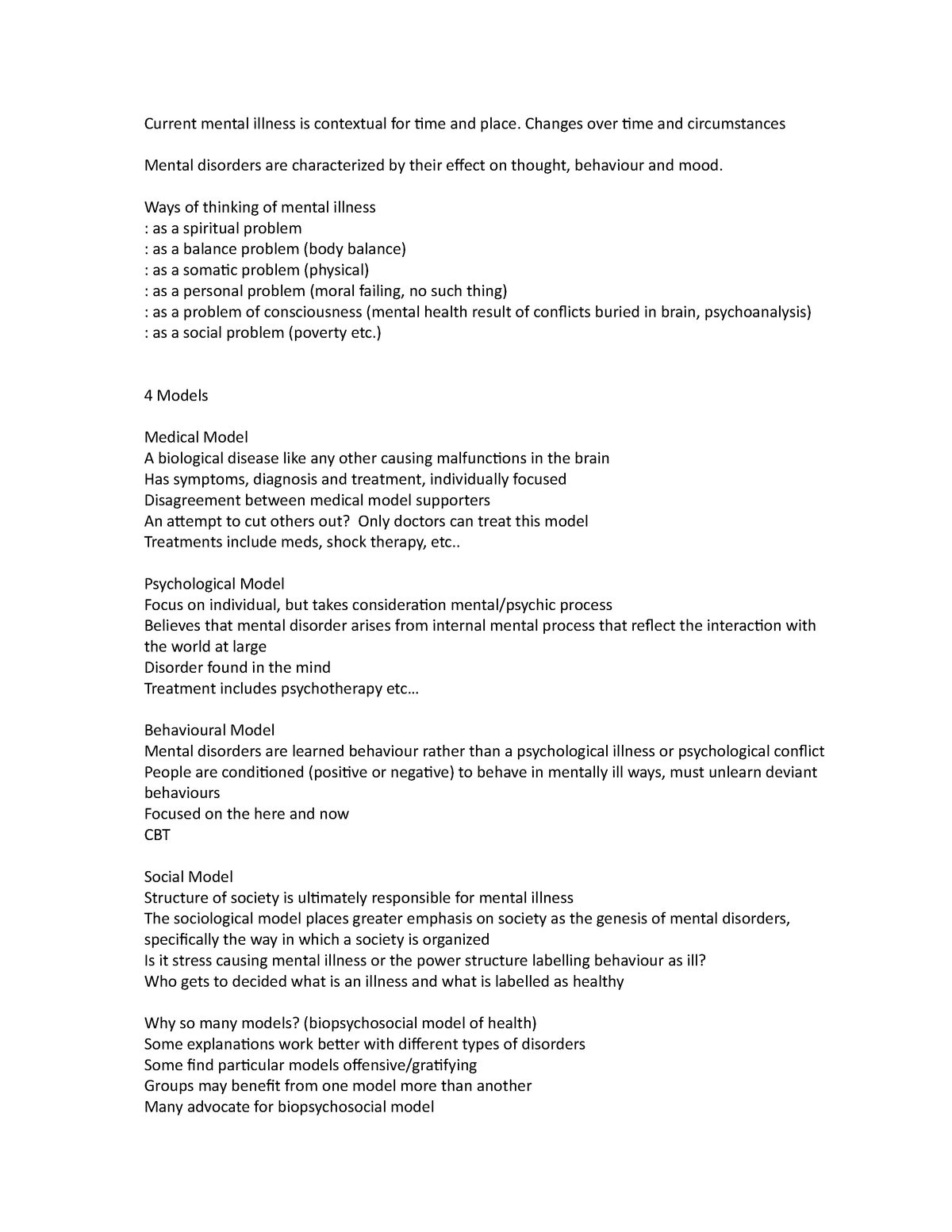 Test 2 Study Notes - HLTHAGE 1CC3 - McMaster - StuDocu