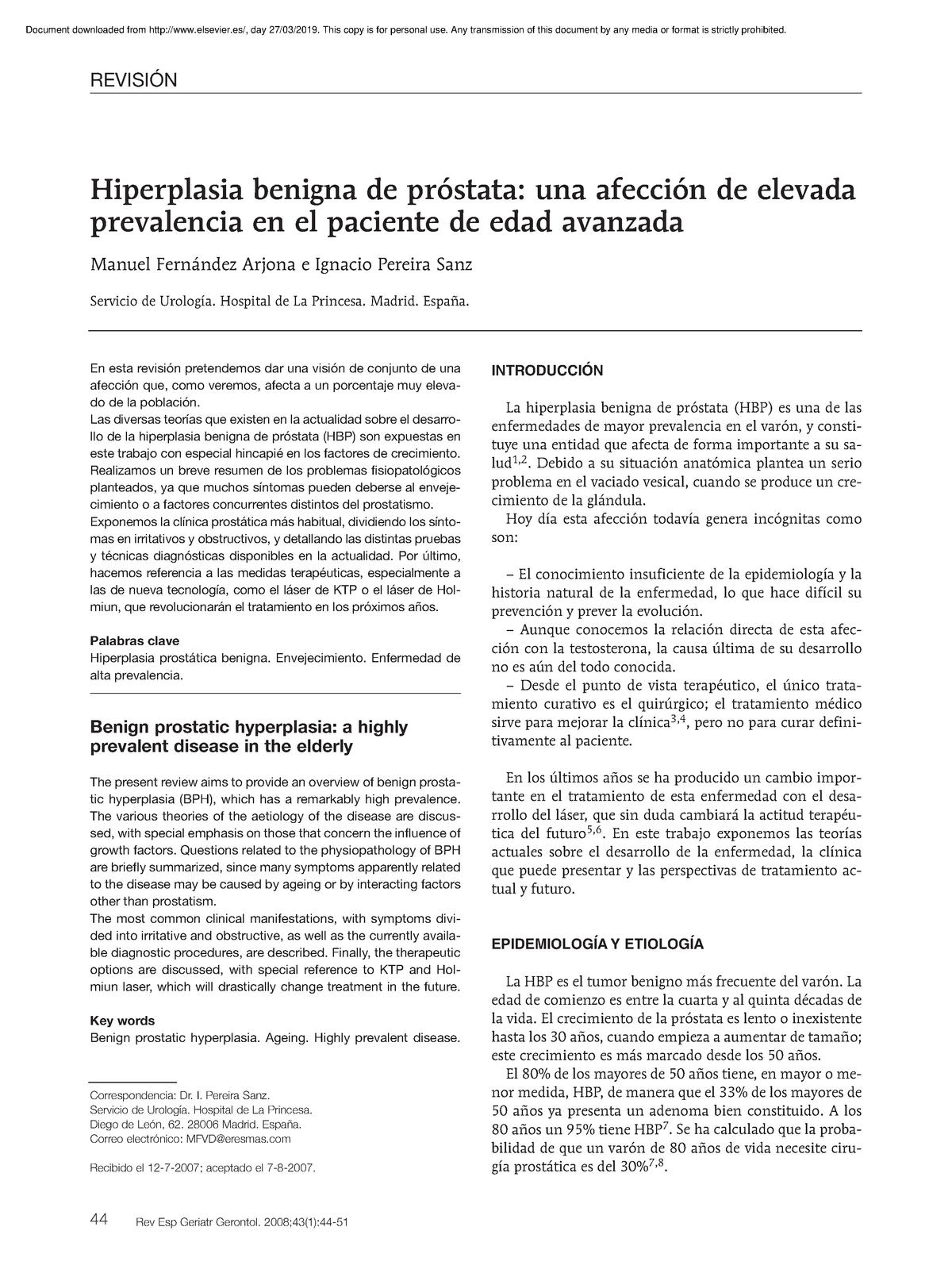 hipertrofia de próstata qué hacer en Nueva York