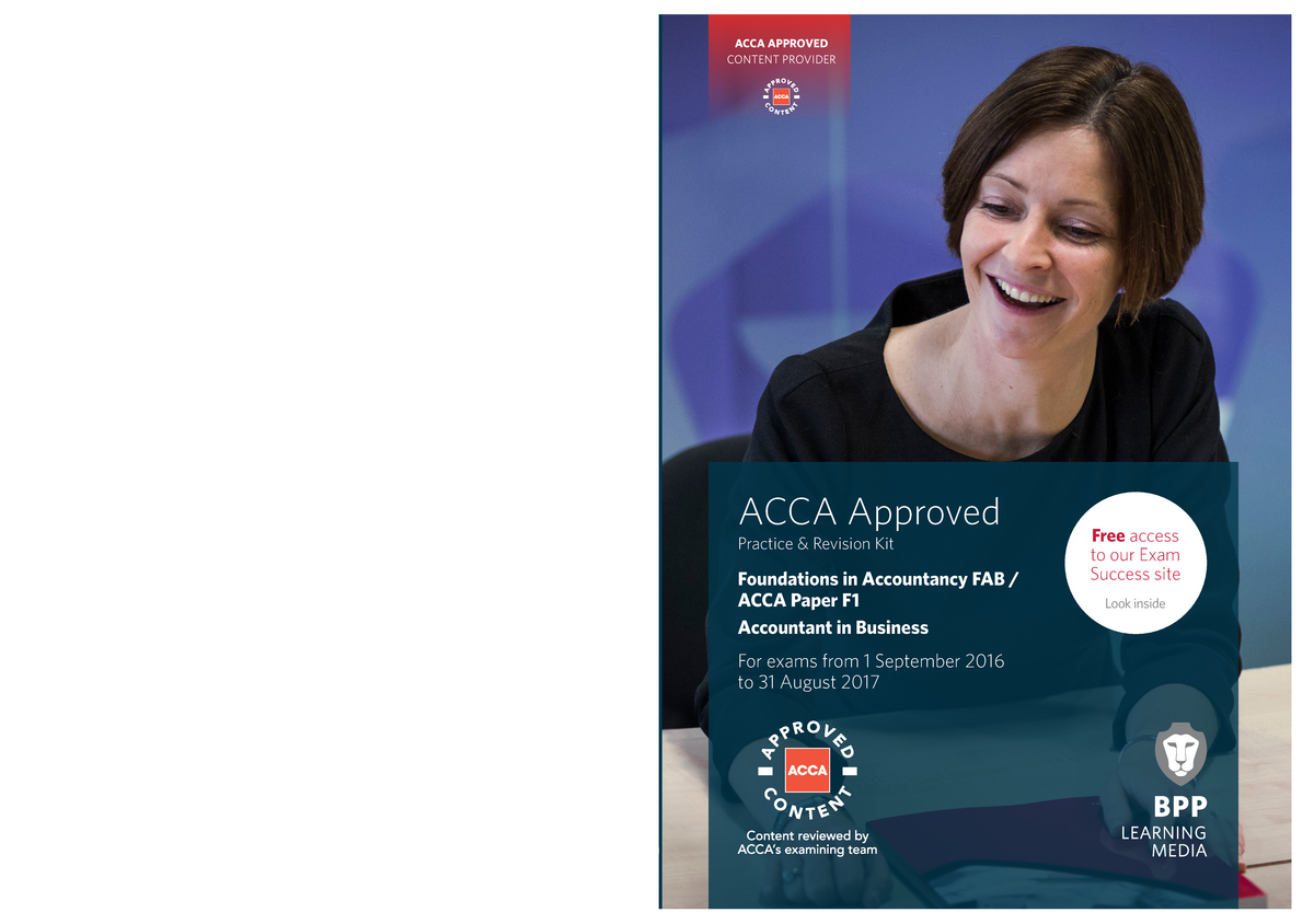 ACCA - F1 Accountant in Business - Revision Kit 2016-2017 - ACCT201