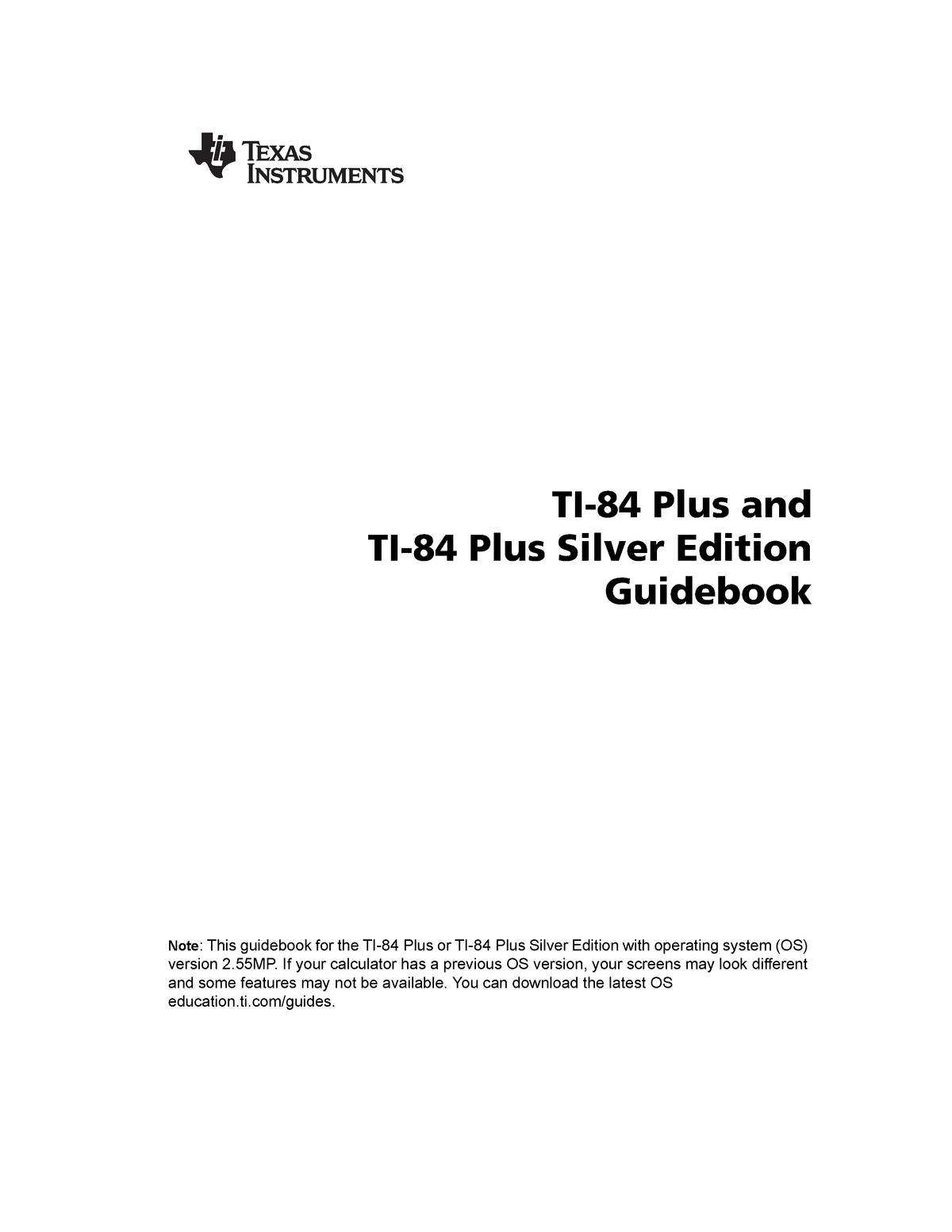 TI84Plus guidebook EN - Tips on how to use the calculator ti