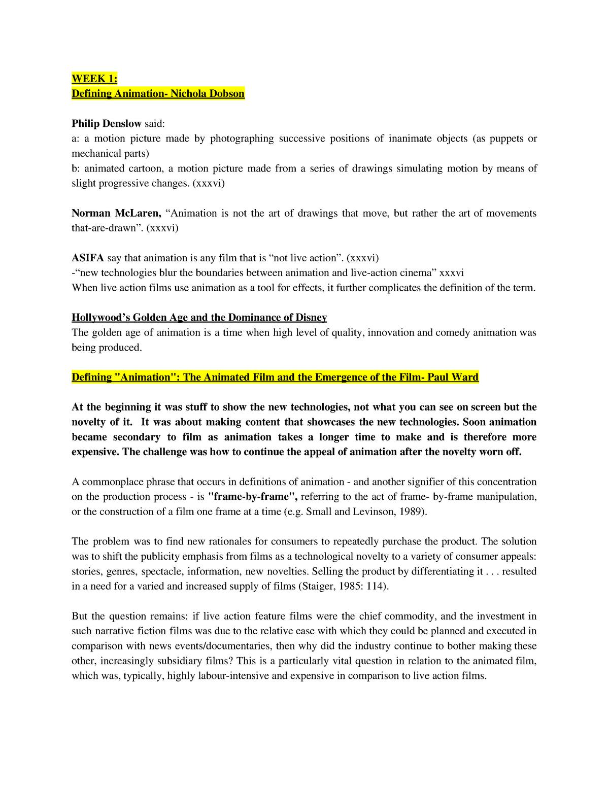 Reading Summaries - MFC3040 - StuDocu