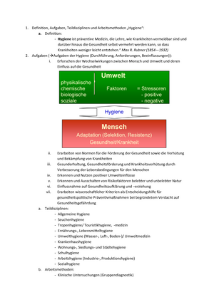 Hygiene Fragenkatalog-Beantwortung - Grundlagen der Mikrobiologie ...
