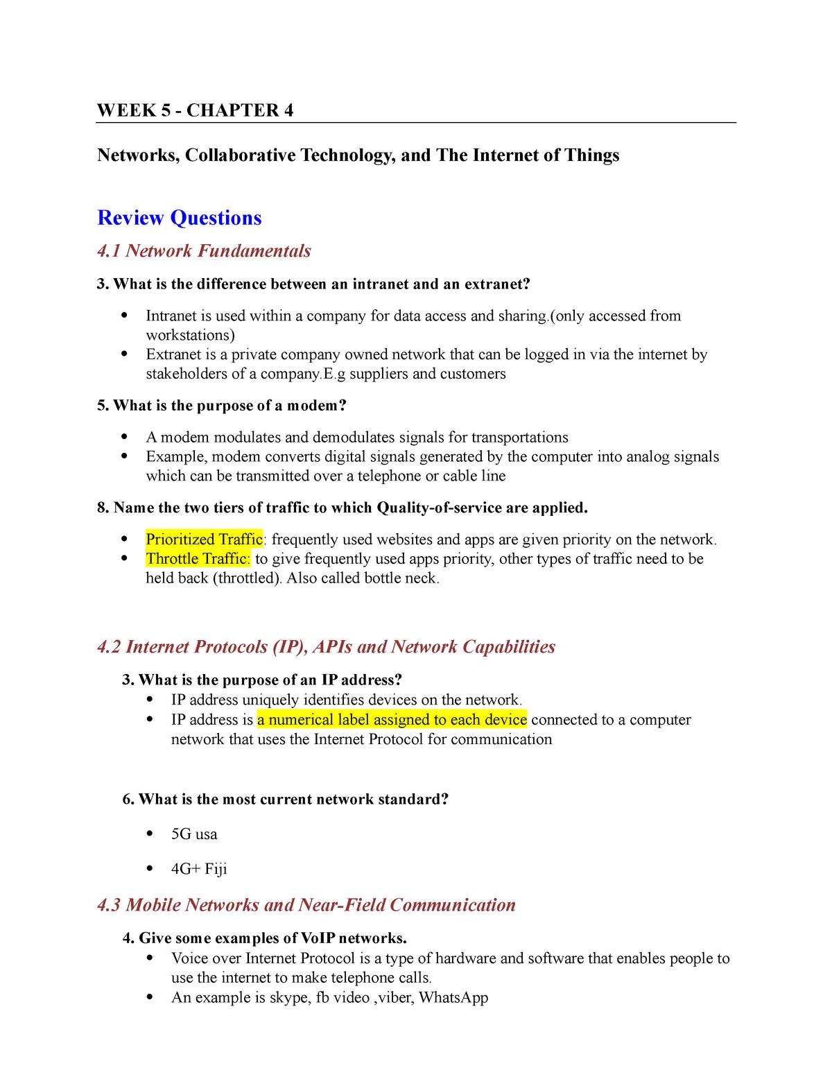 Chapter 4 - Tutorial Solutions - AF302 - StuDocu