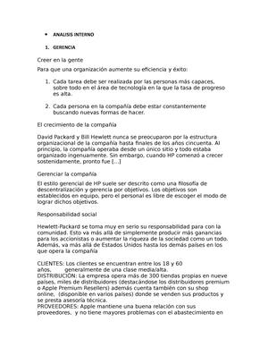 Analisis Interno Nota 8 Redes De Computadoras Studocu