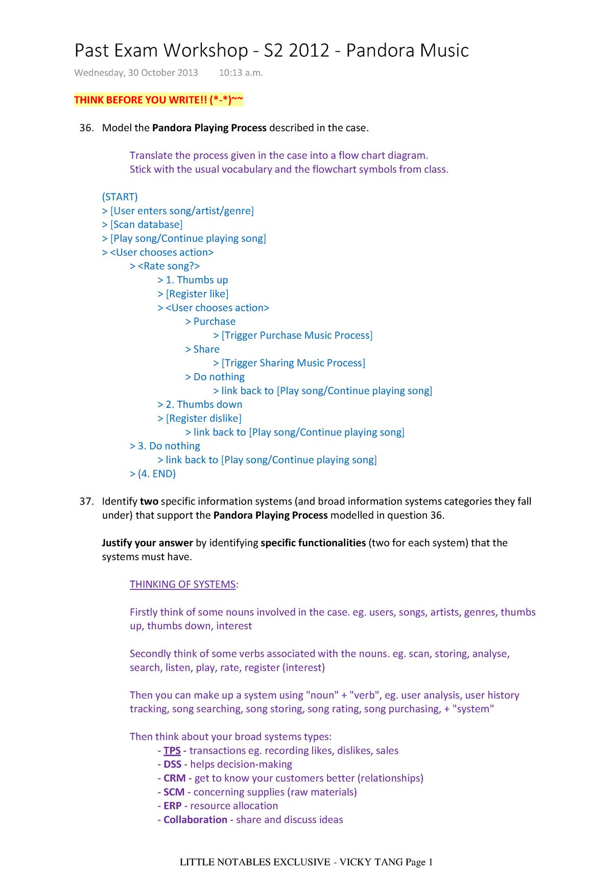 Infosys 110 - vt - notes and pandora music 2 - INFOSYS110