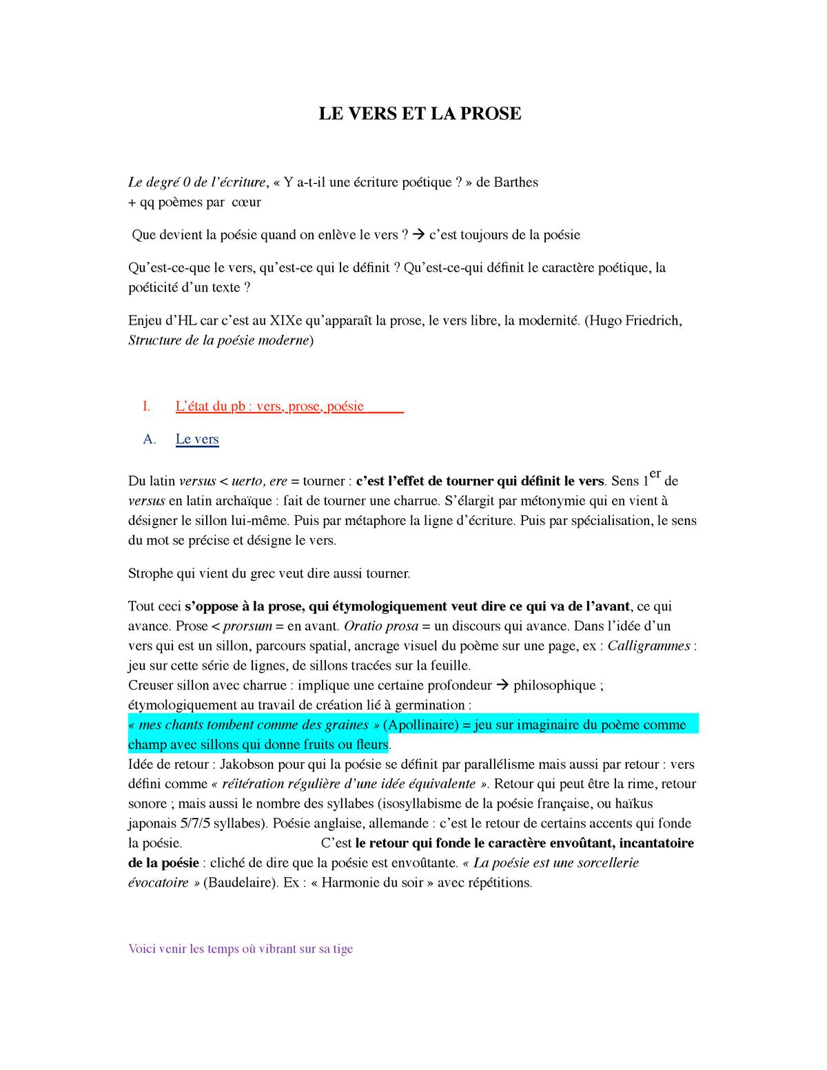 Cours General Poesie Littérature Sorbonne Université