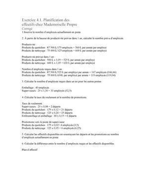 Corrige Planification Main Doeuvre P 41 Et 42 Studocu