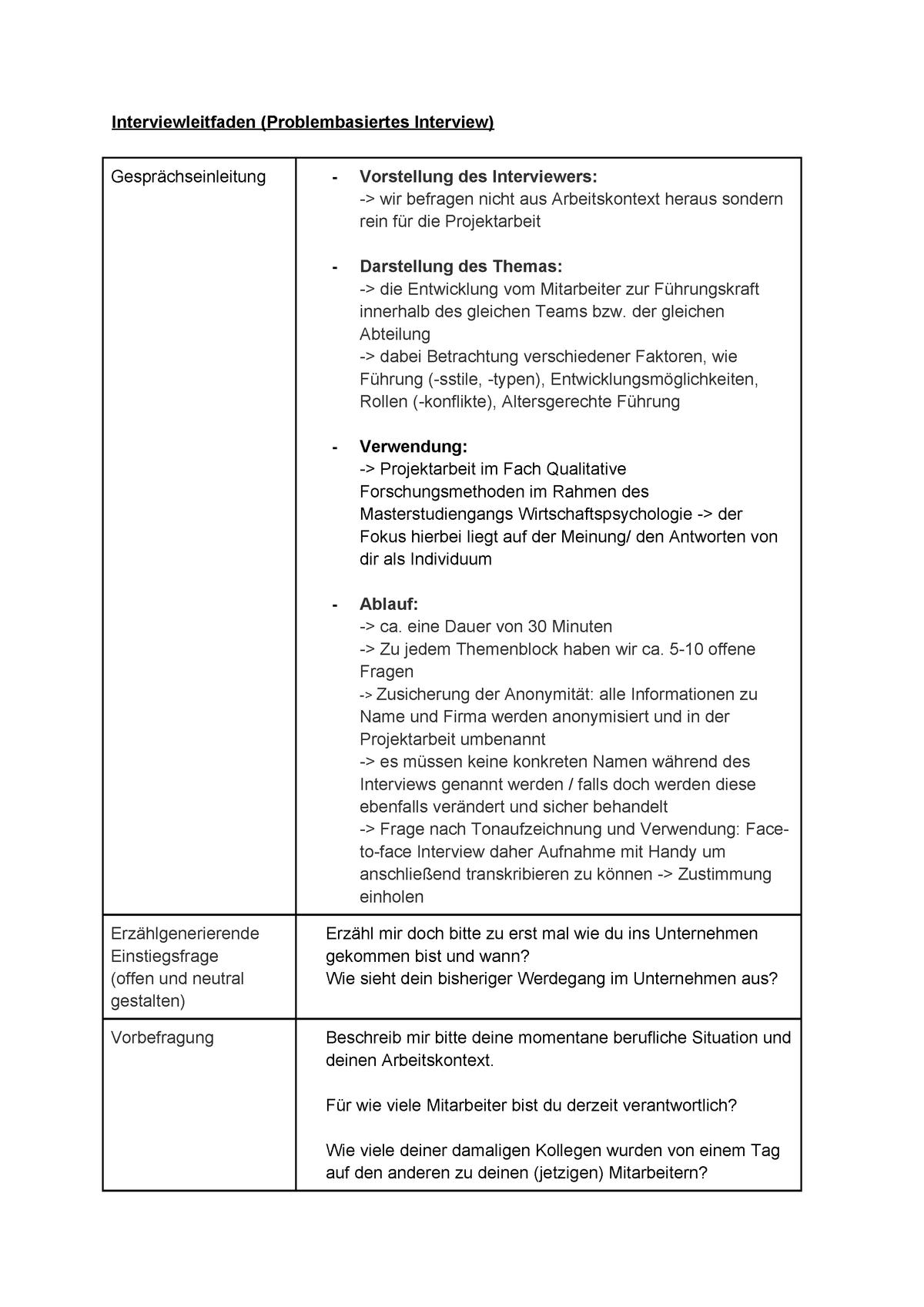 Das Qualitative Interview Formen Und Datenerhebung 14