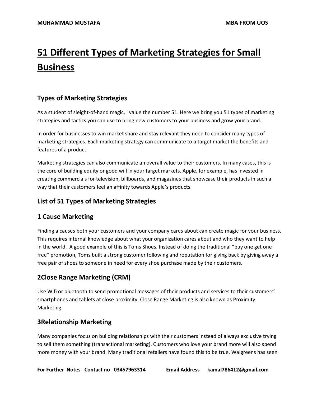 51 Different Types of Marketing Strategies for Small