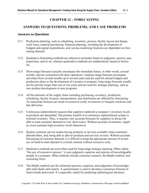 Sm12 - test banks - 04-73-331 Operations Management I - StuDocu