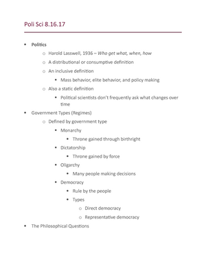 lasswells definition of politics