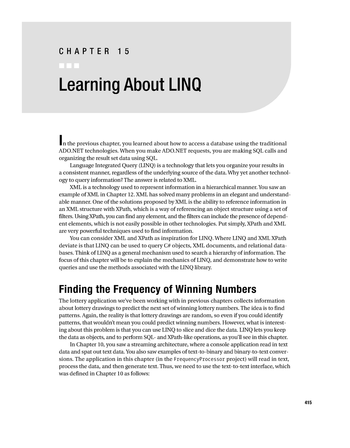Chapter 15 - Learning About LINQ - Informatik - StuDocu