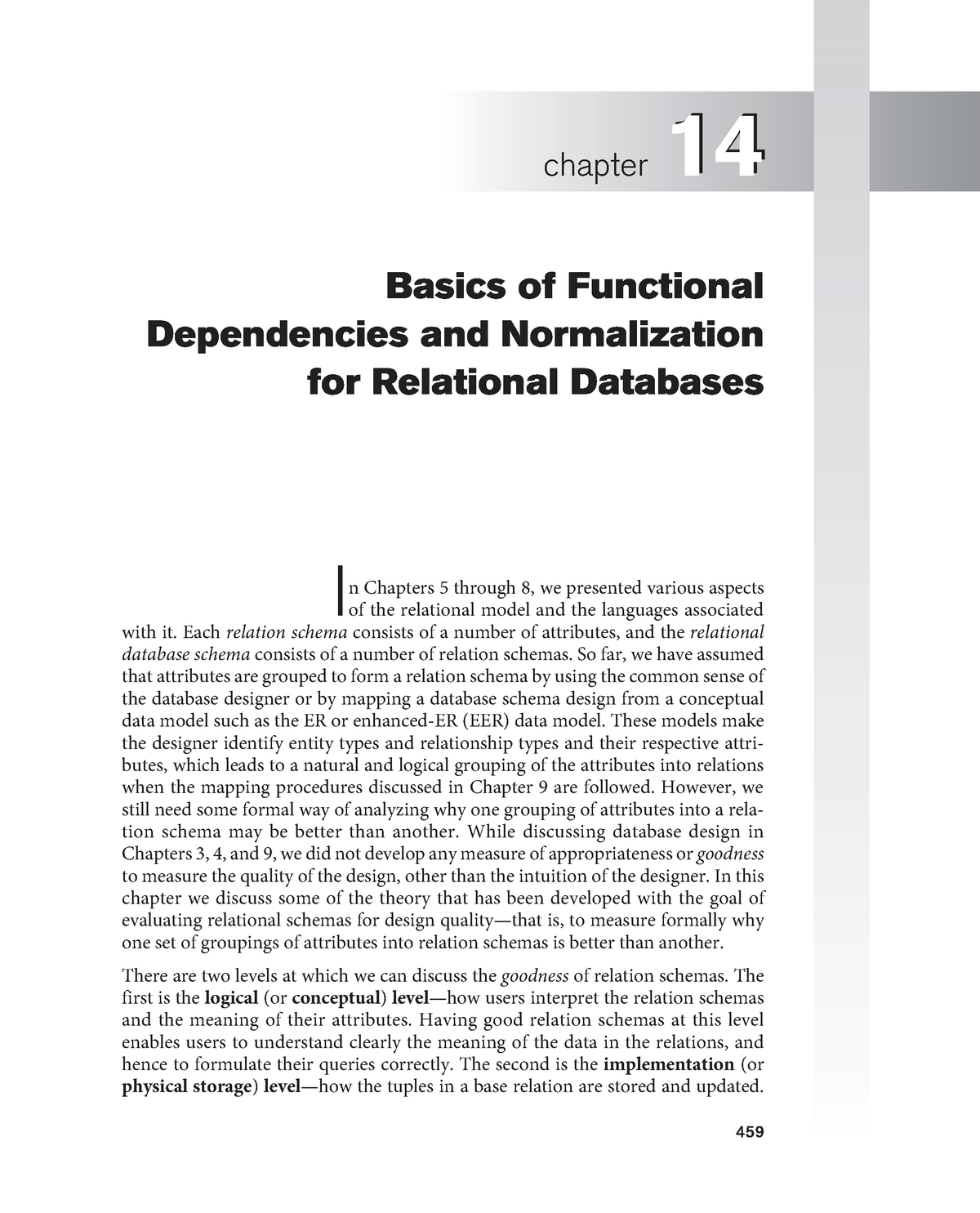 Chapter 14 Basics Of Functional Dependencies And Normalization Studocu