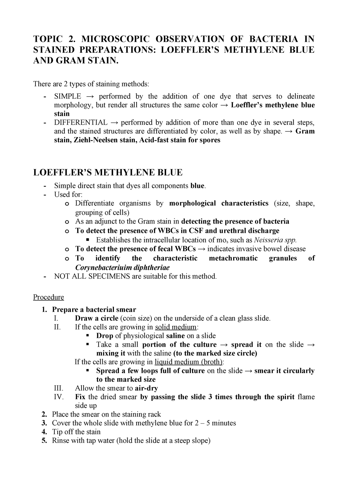 Topic 2 - LABORATORY - Microbiology 16 - StuDocu