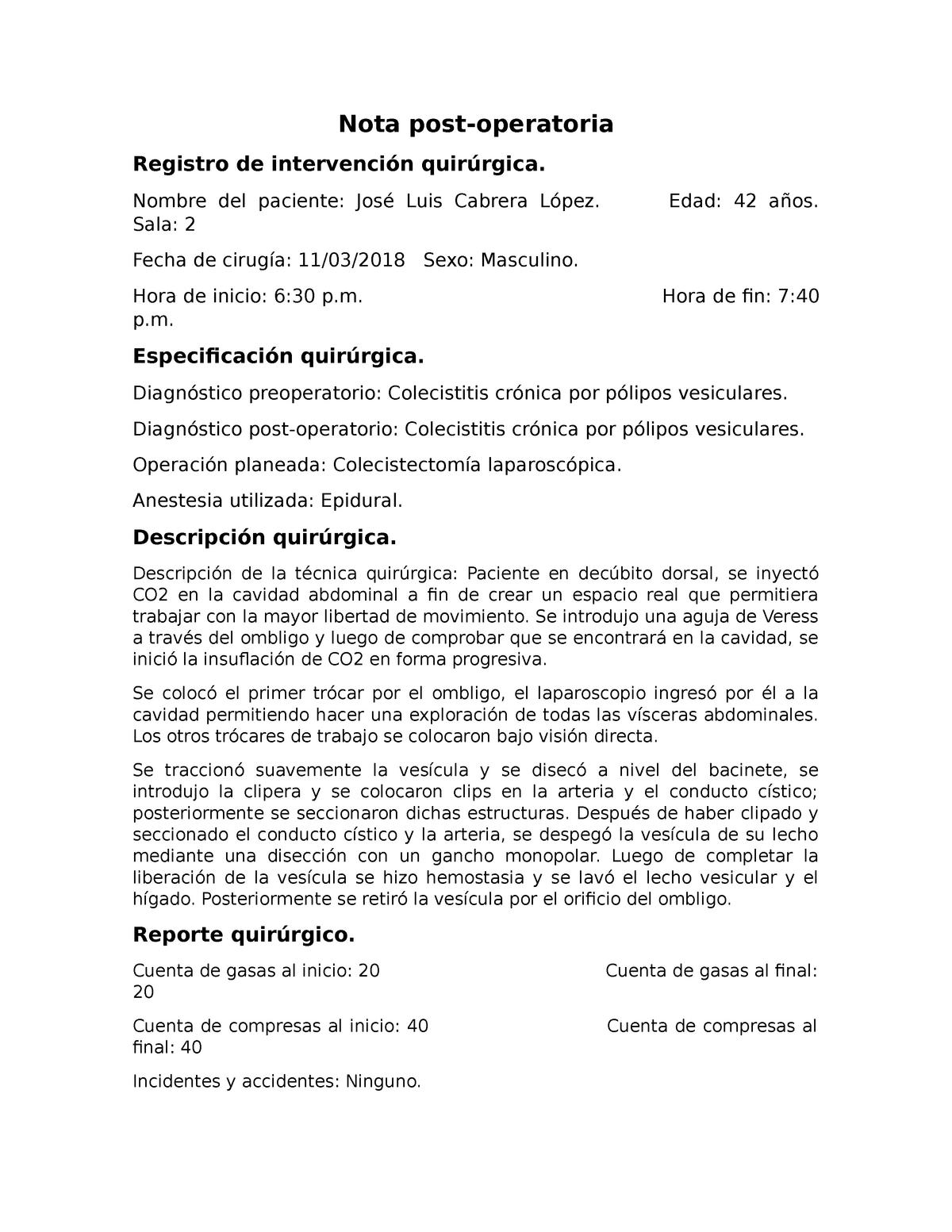 Tecnica Quirurgica De Colecistectomia Abierta Pdf Download