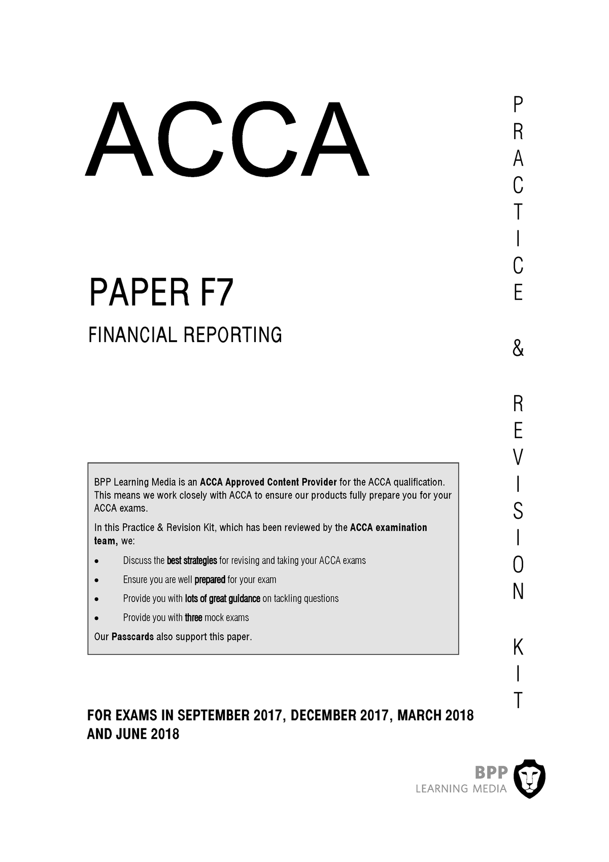 acca f7 revision kit free download