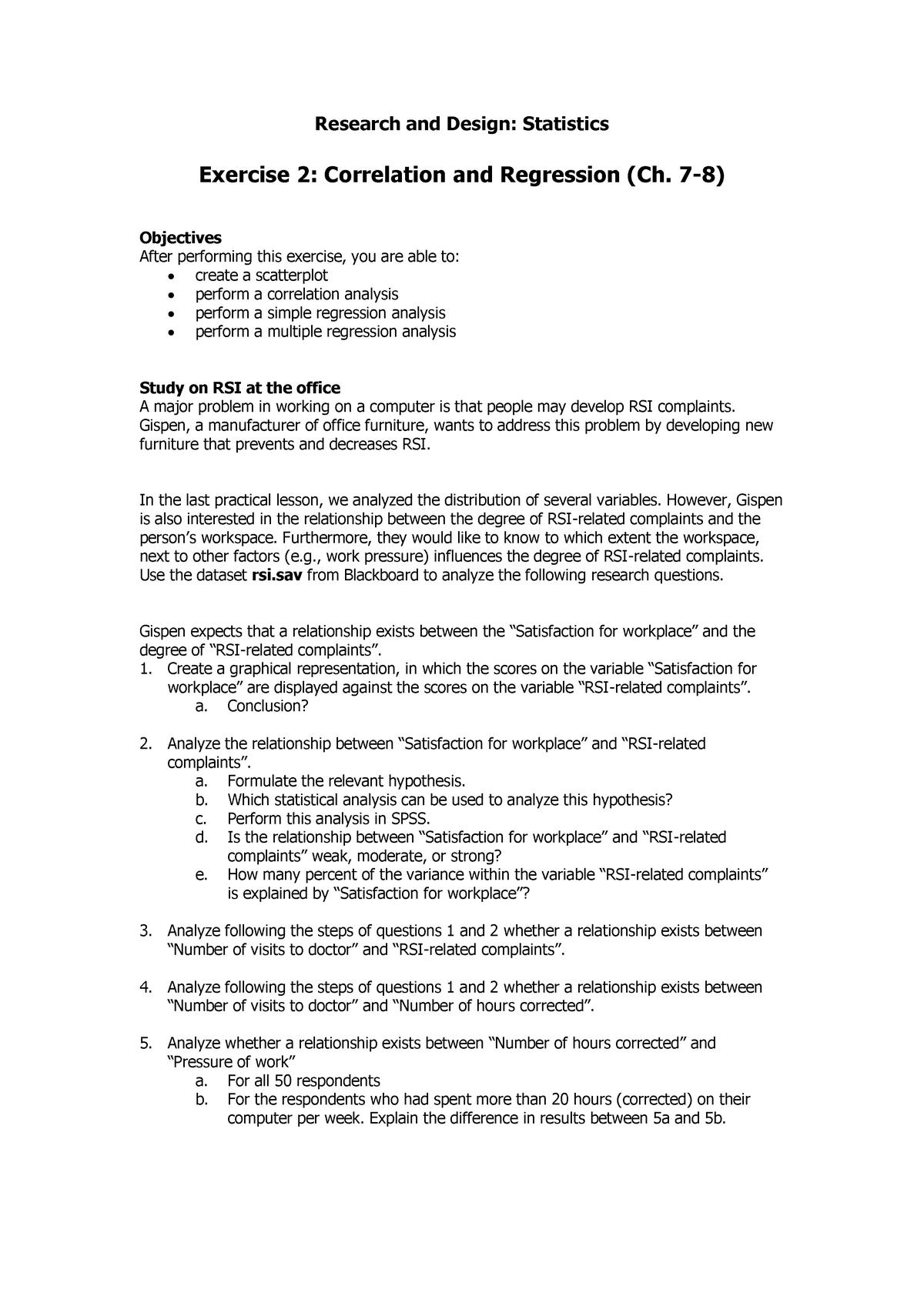 Werkgroep Uitwerkingen - 2 - Vragen En Antwoorden | Research