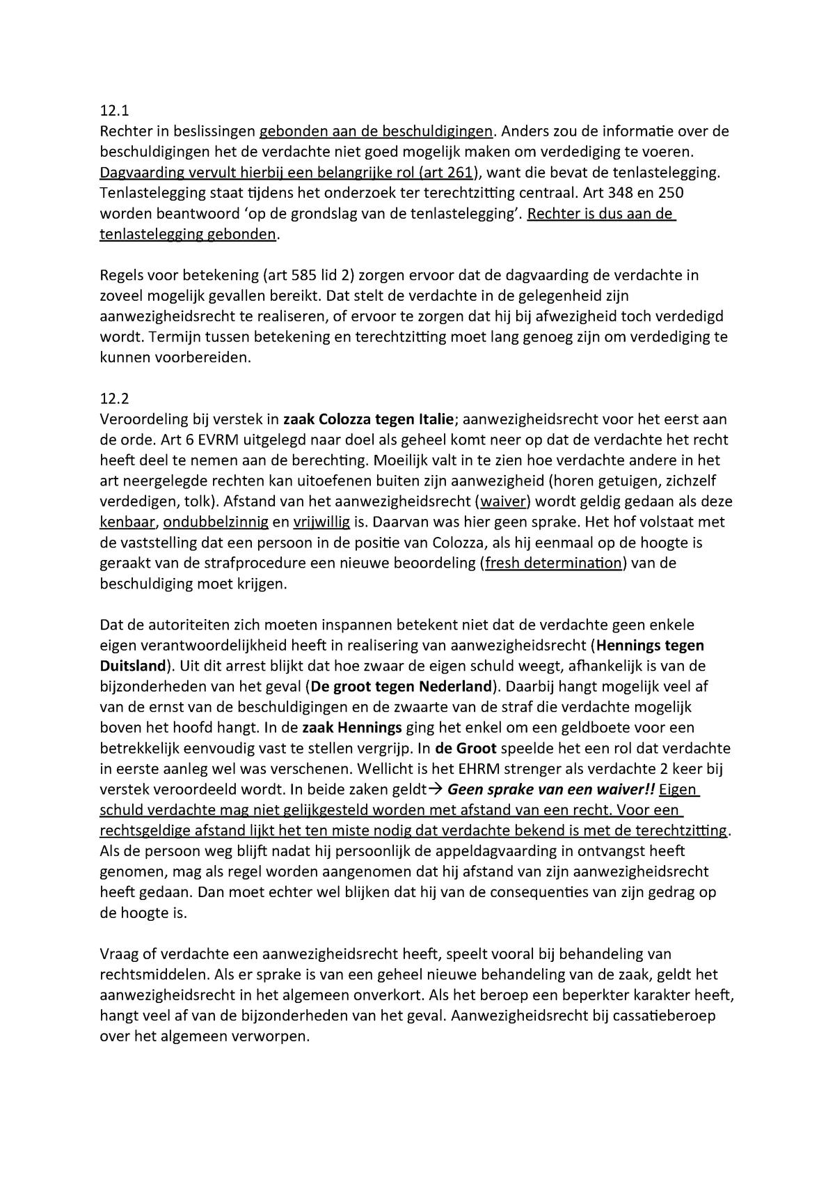 Hfdstuk 12 Strafrecht Rgbsr00010 Rug Studocu