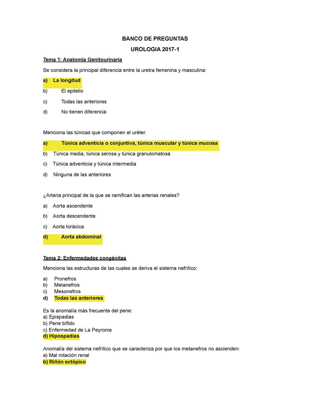 examen de urología para hiperplasia prostática benigna