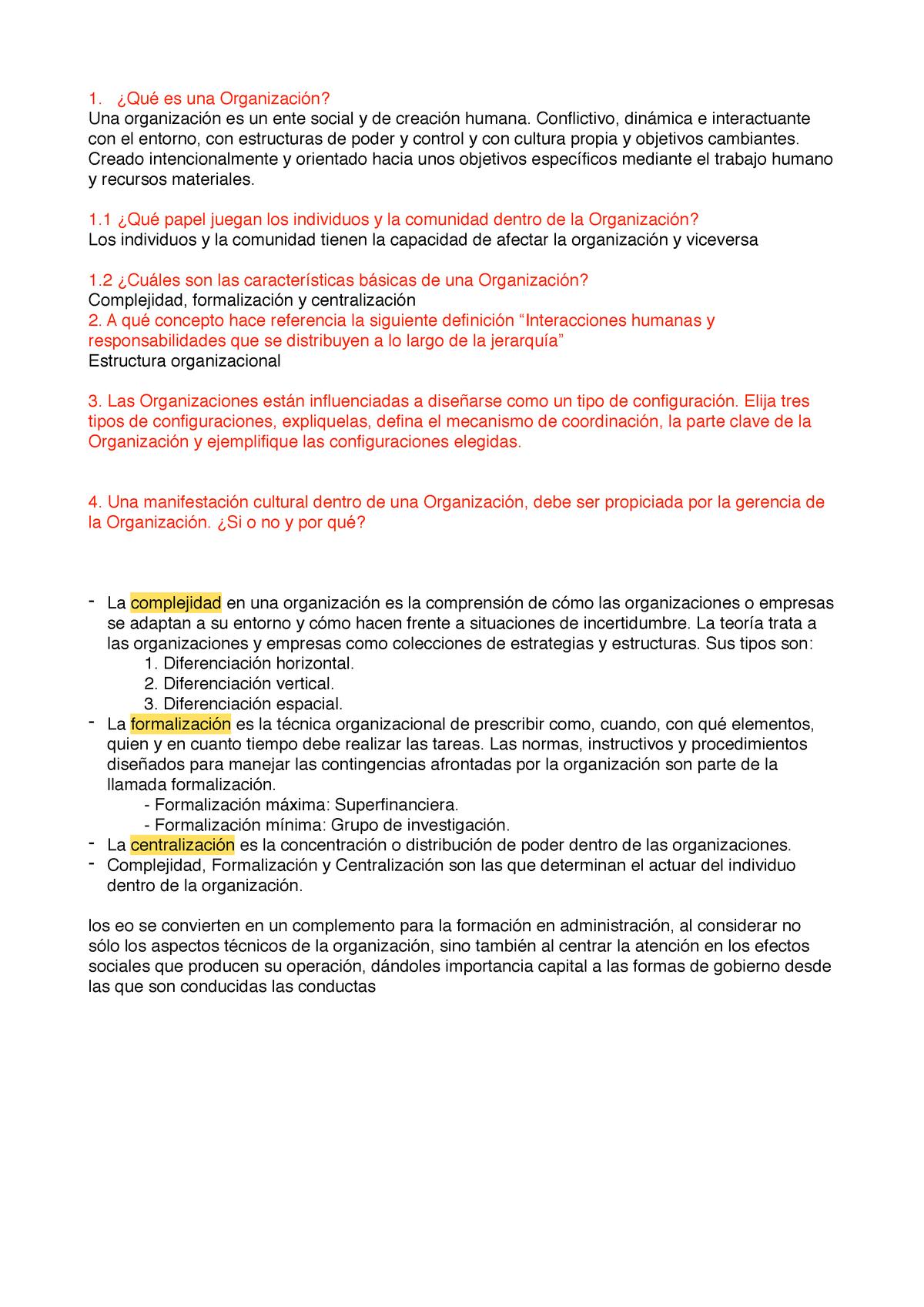 Preguntas Organizaciones Og0124 Eafit Studocu
