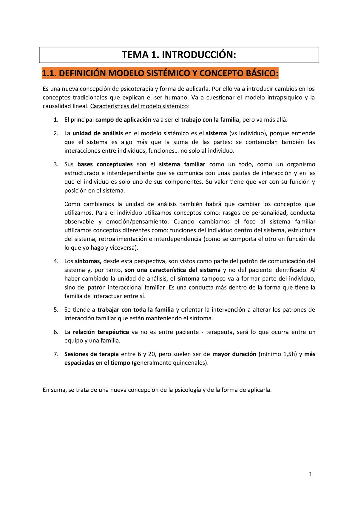 Tema 1 Apuntes 1 Intervenció Familiar Sistèmica I 364101