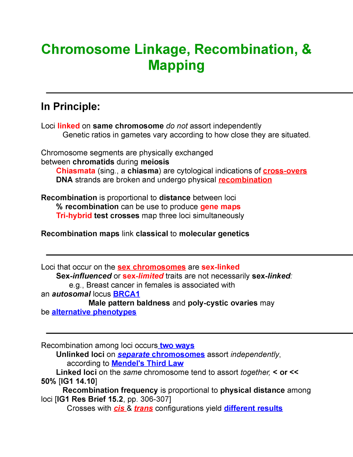 Chromosome Linkage, Recombination, & Mapping - lecture notes ... on heart map distance, genetic distance nei, cavalli-sforza genetic distance, linkage maps distance, genetic distance race, world map distance, genetic distance 1,