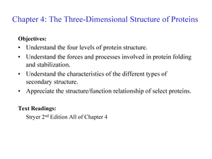three dimensional structure of protein