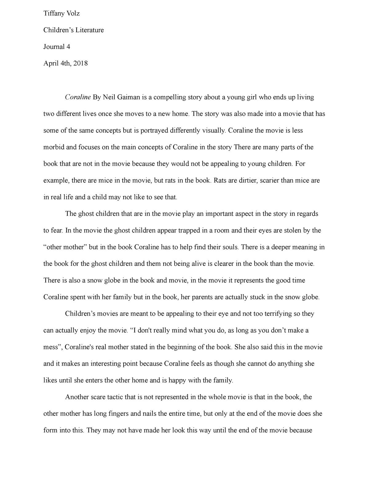 Tiffany Volz Journal 4 Grade A Eng 2250 Studocu
