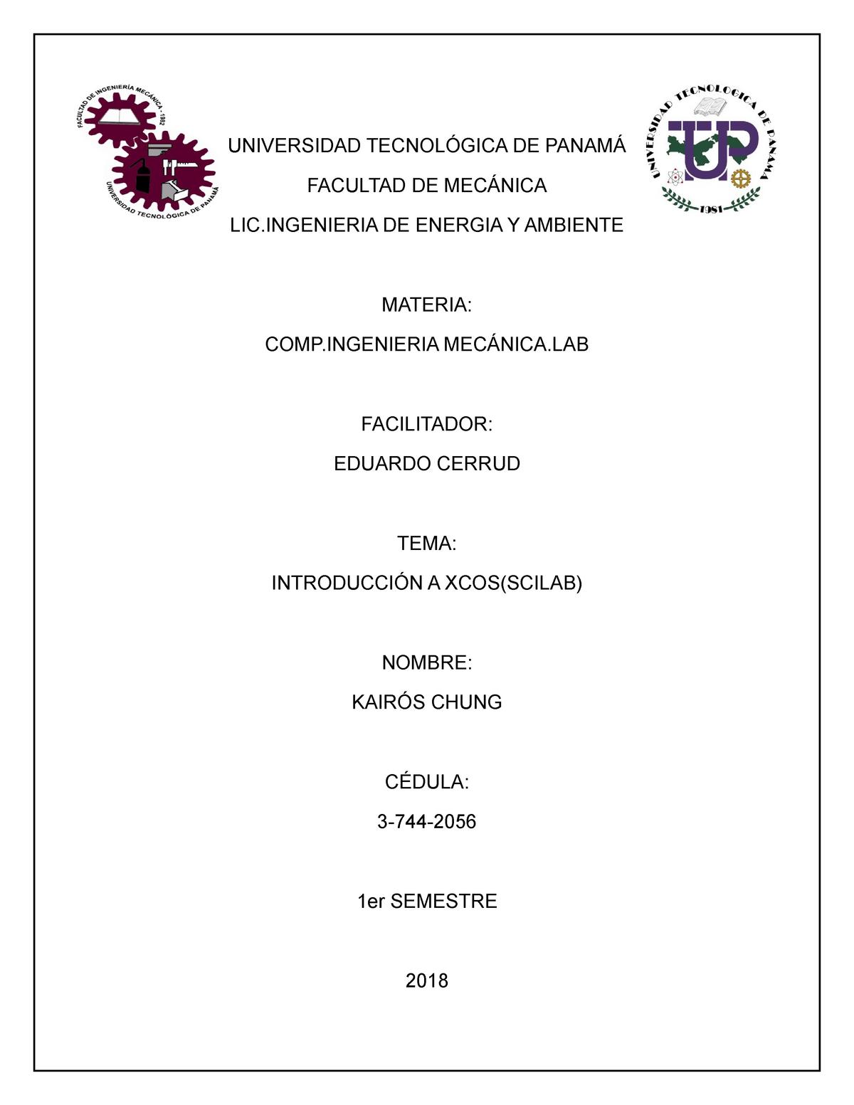 XCOS Scilab - 1357: Fisica II - StuDocu