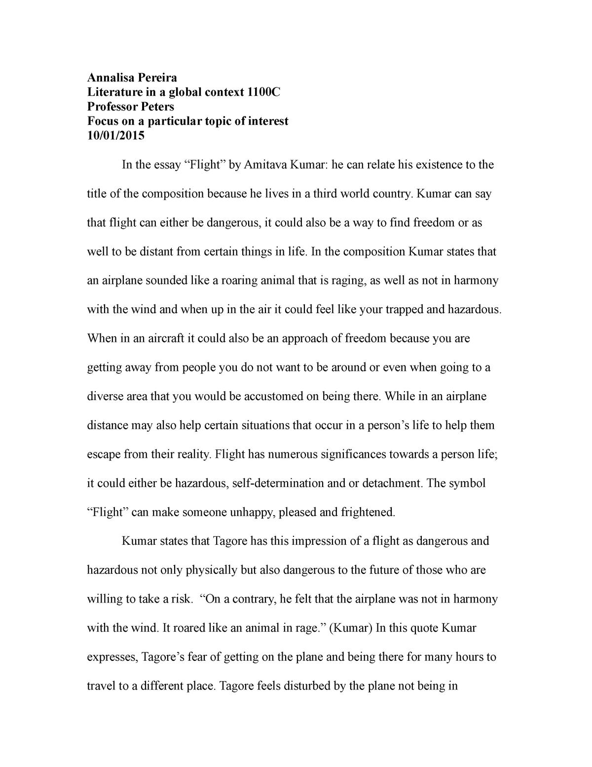 essay about future world