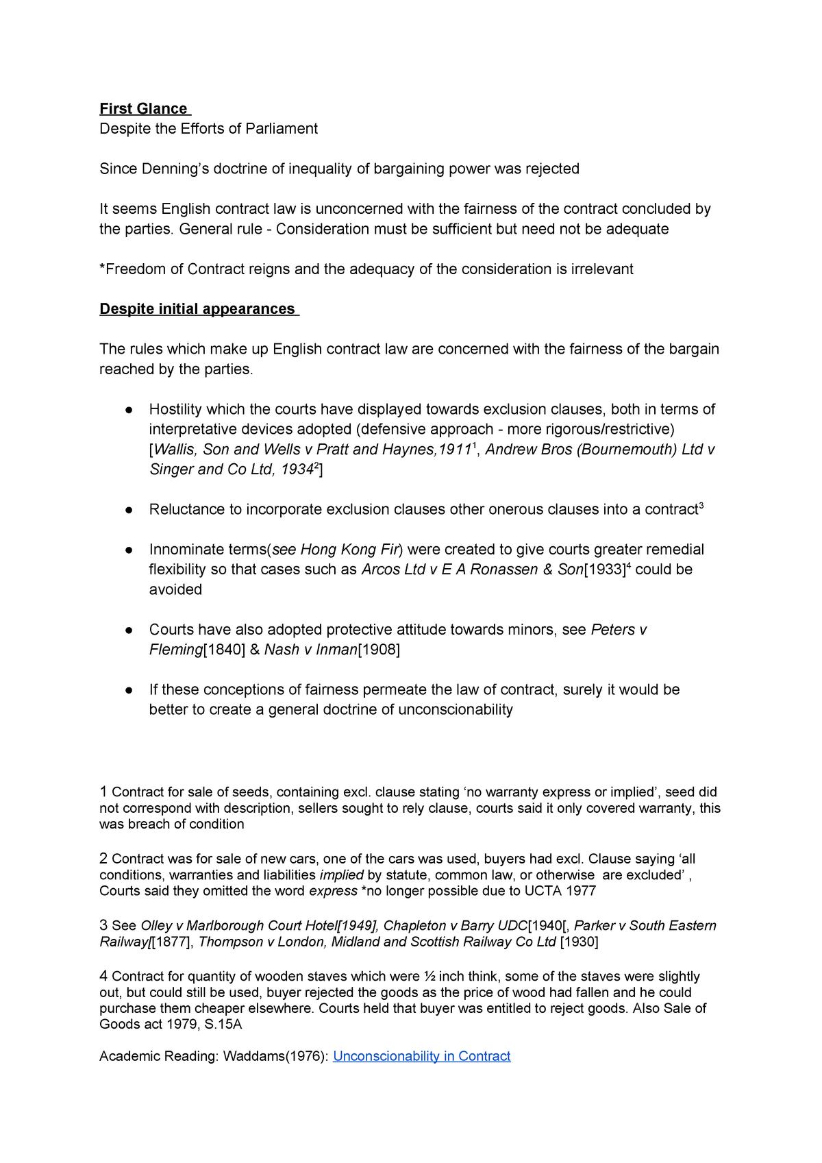 Summary Contract Law 09 May 2019 - StuDocu