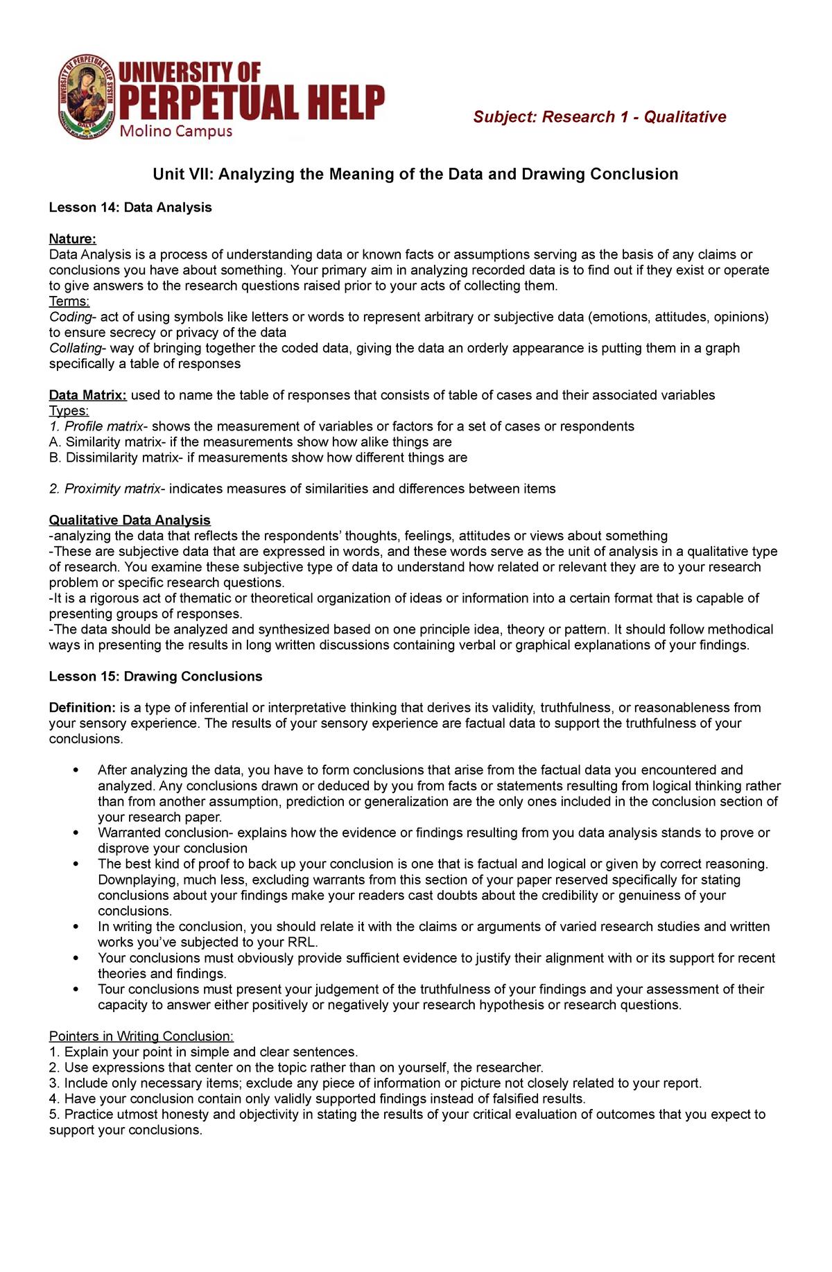 Research Handouts Unit7 8 - BSED: Education - StuDocu