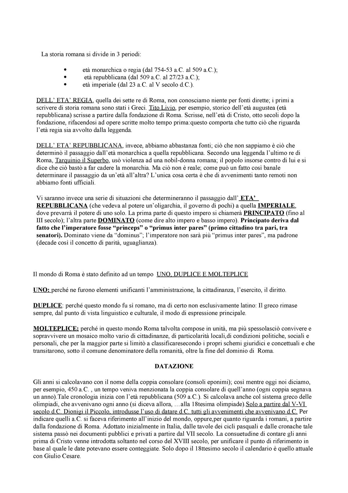 Nuove regole di datazione delletà