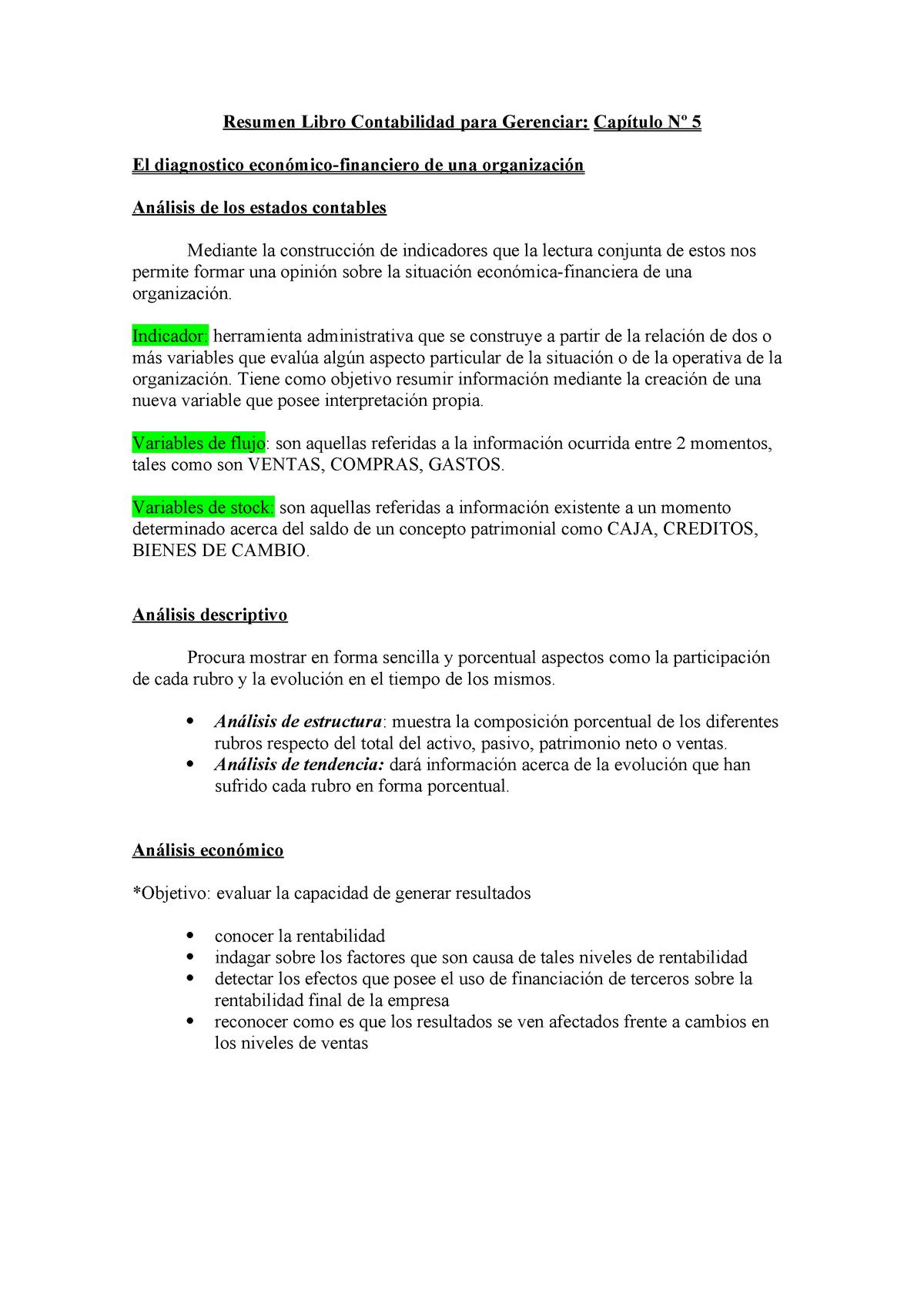 271261188 Resumen Libro Contabilidad Para Gerenciar Cap 5