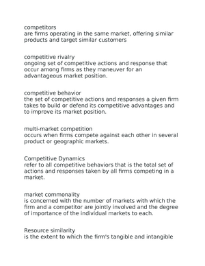 what is market commonality