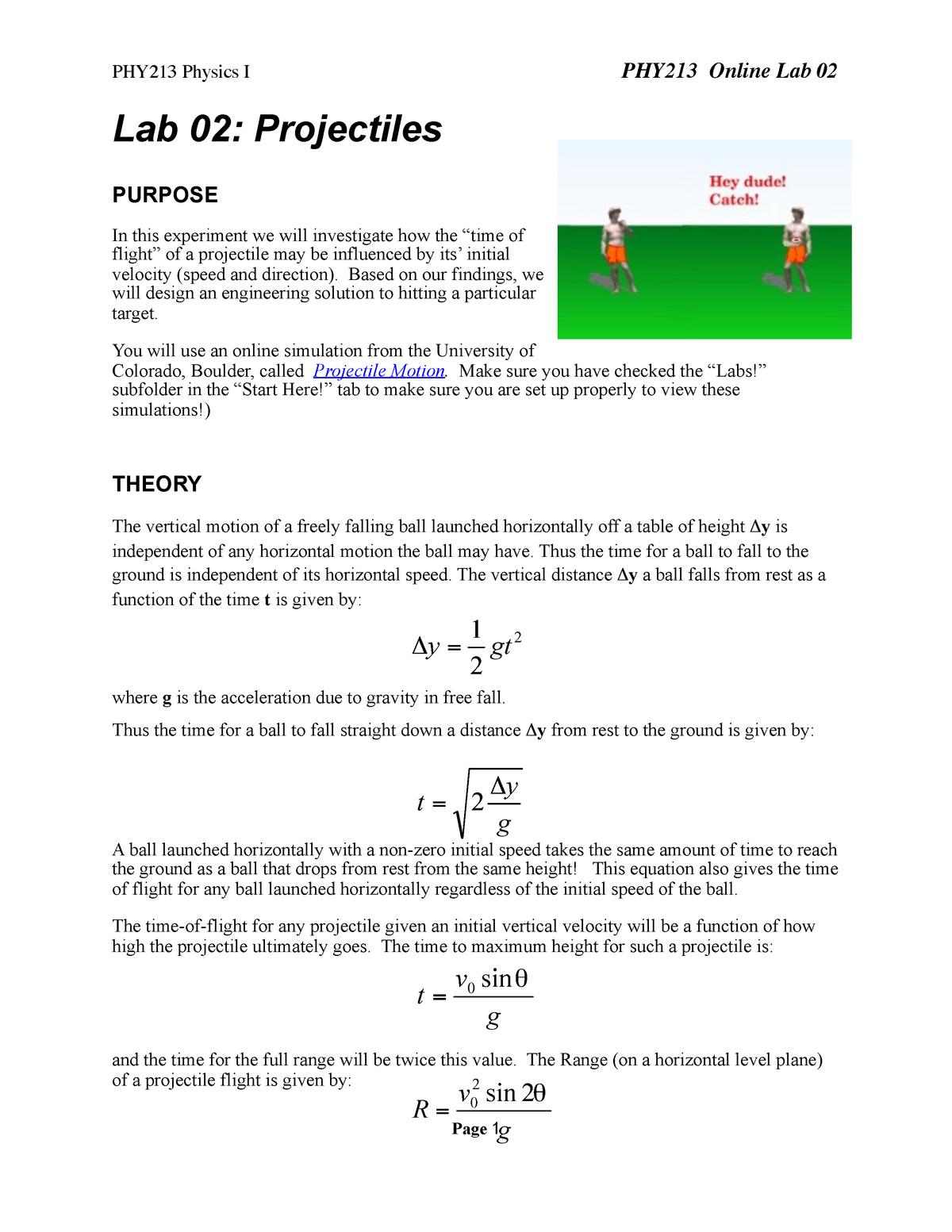 Lab 2 - Lab 2 - PH 202: Calculus-Based Physics II - StuDocu