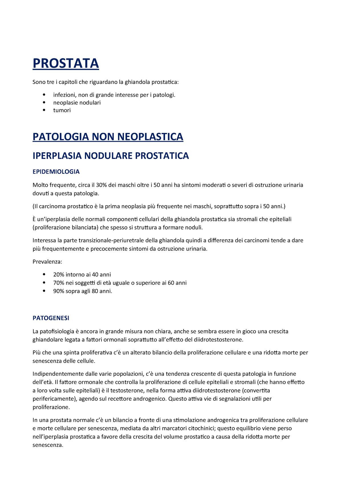 patologia delladenocarcinoma prostatico